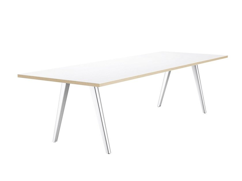 Rectangular meeting table 1500 by THONET