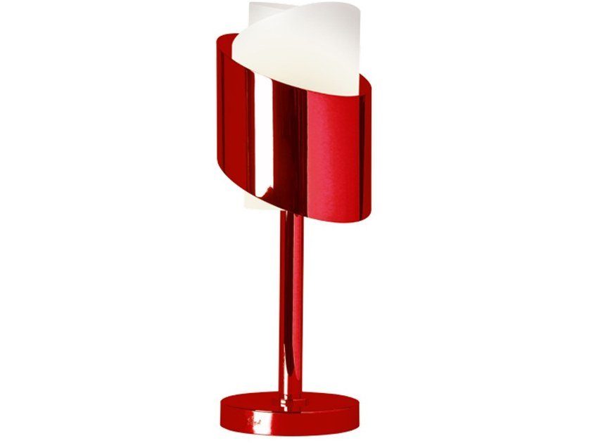 Direct light metal table lamp 159 ROU | Table lamp by Jean Perzel