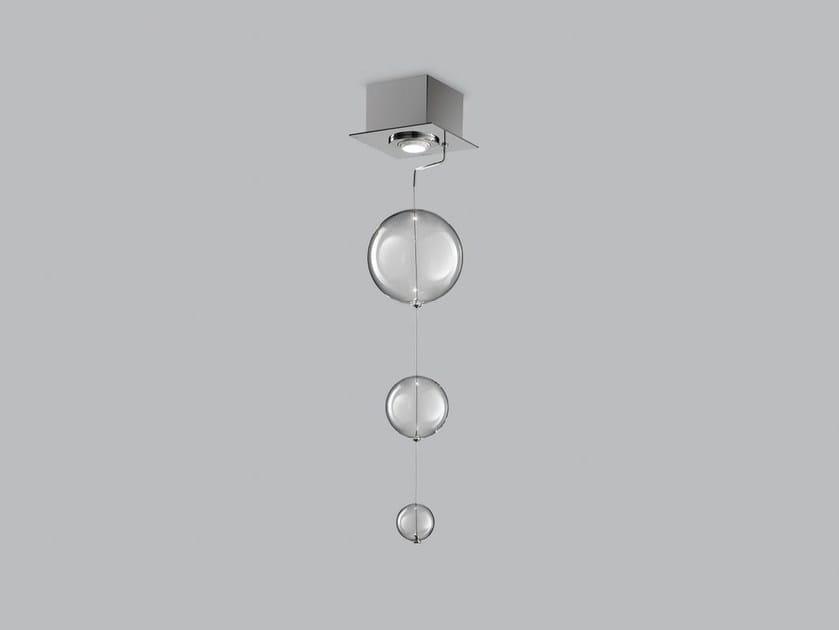 Blown glass ceiling lamp BOLERO 15x15 by Metal Lux