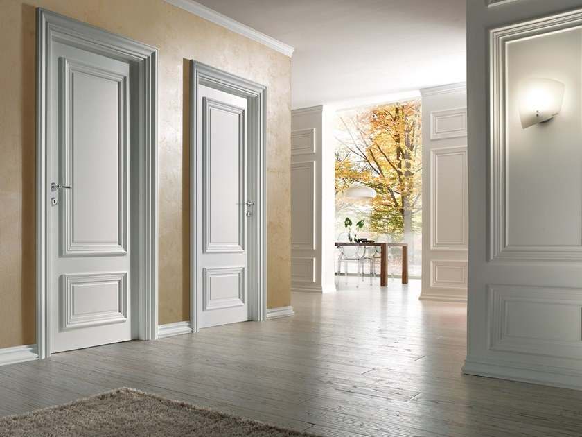 Classic style hinged lacquered wooden door 1600 DOGE PP by BARAUSSE