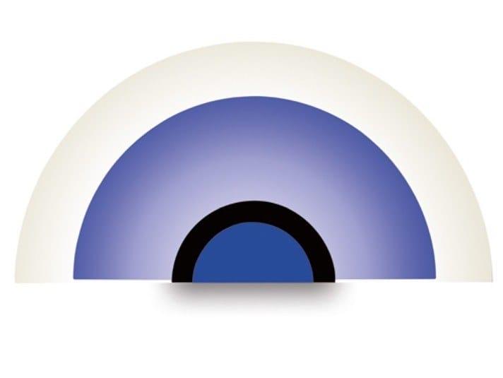 Direct light glass wall light 160L BLE / NOI | Wall light by Jean Perzel