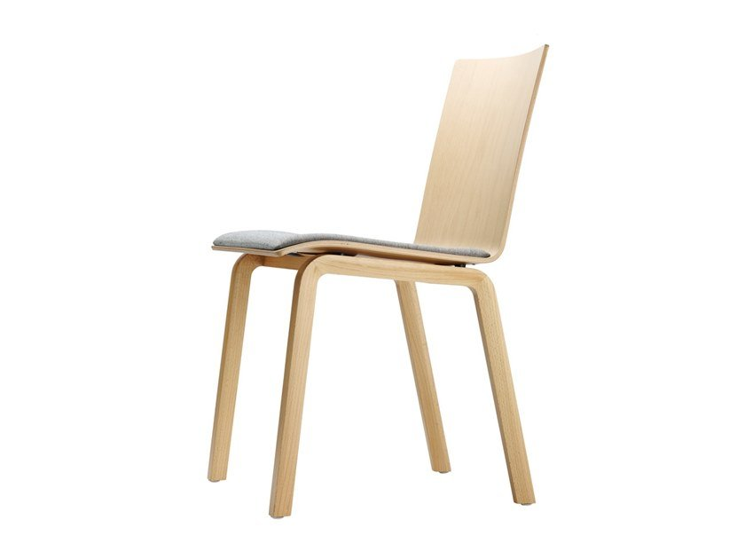 Plywood chair with integrated cushion 162 SP by Thonet