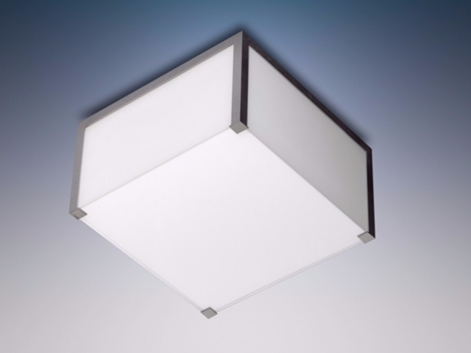 Direct light glass ceiling light 165 | Ceiling lamp by Jean Perzel