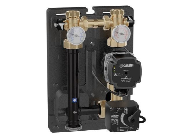 Motorised temperature regulating unit for heating systems 167 by CALEFFI