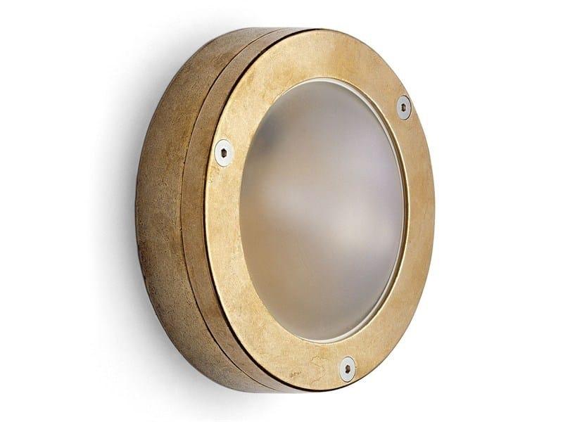 Brass wall lamp 171646 | Shallow brass light by THPG
