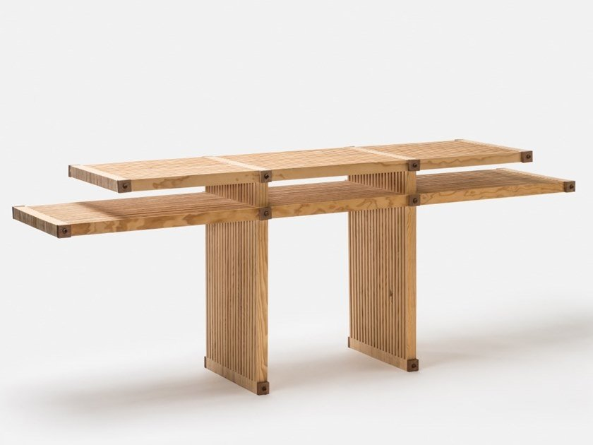 Rectangular wooden console table #18   Rectangular console table by Linie by Cabana