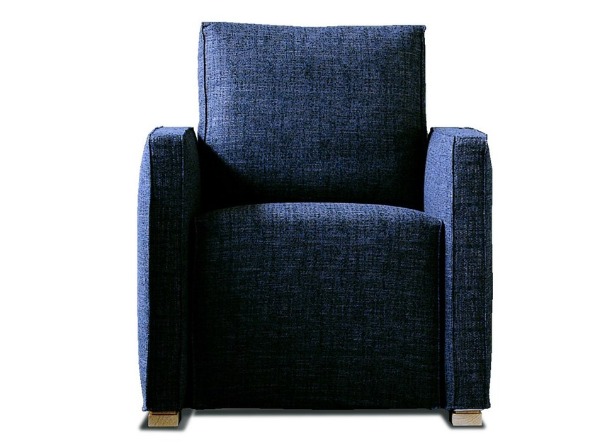 Upholstered fabric armchair with armrests 180 FEELING by Vibieffe
