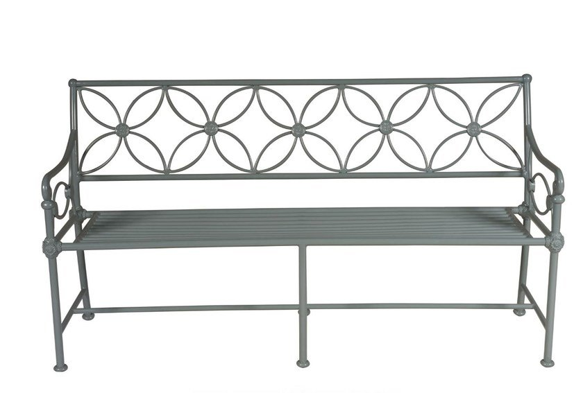 Garden bench with armrests 1801 by Tectona
