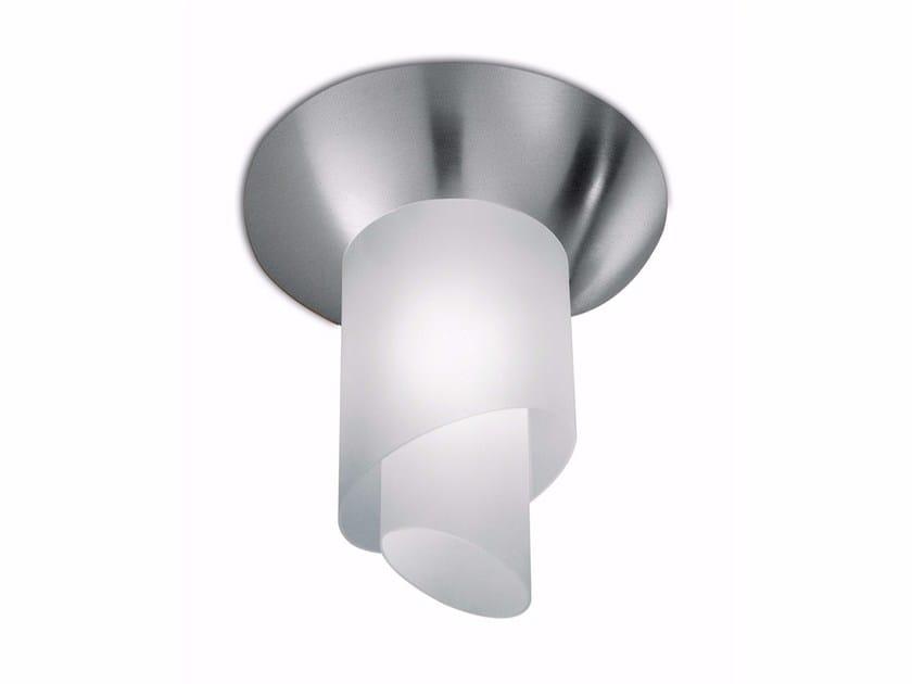 Plafoniera a luce diretta in vetro 184 | Plafoniera by Jean Perzel