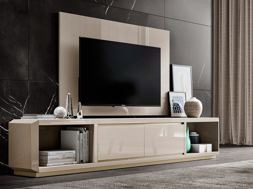 Lacquered wooden TV cabinet RICHMOND   Lacquered TV cabinet by Barnini Oseo