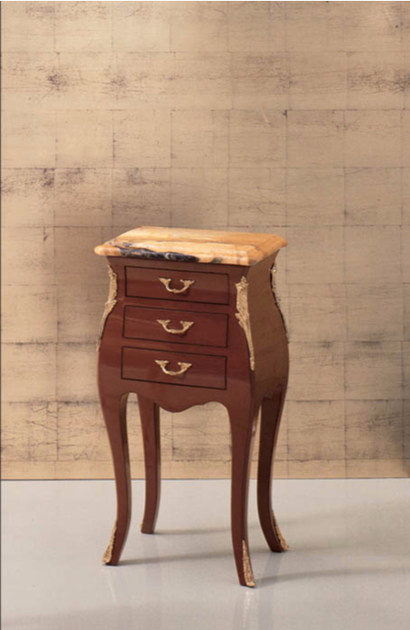 Rectangular wooden bedside table with drawers 184B | Bedside table by Rozzoni