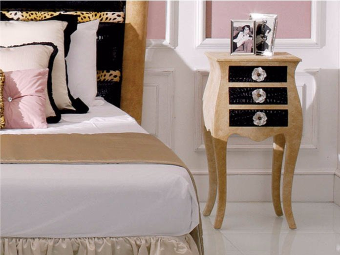 Rounded rectangular bedside table with drawers 184P   Bedside table by Rozzoni