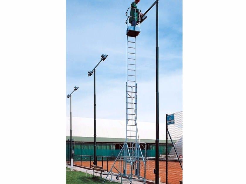 Aluminium heavy duty ladder 1913 by Frigerio Carpenterie