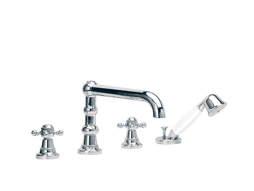 4 hole bathtub set with hand shower 1920-1921 | 4 hole bathtub set by rvb