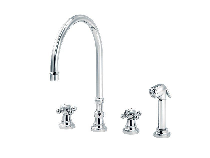 Countertop kitchen mixer tap with spray 1920-1921 | Kitchen mixer tap with spray by rvb