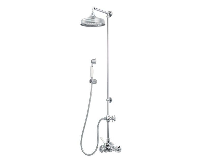 Colonna doccia a parete in ottone con soffione 1920-1921 | Colonna doccia con soffione by rvb