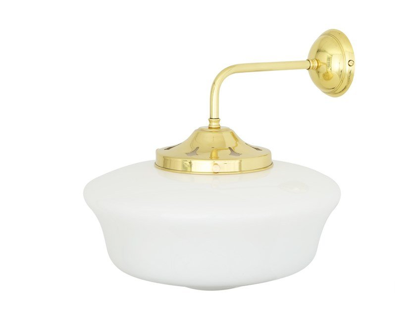 Direct light brass wall lamp 1920'S SCHOOLSHOUSE | Wall lamp by Mullan Lighting
