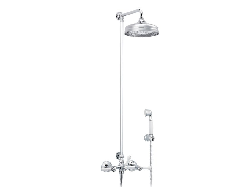 Wall-mounted shower panel with hand shower 1935 LIMOGES | Shower panel with hand shower by rvb