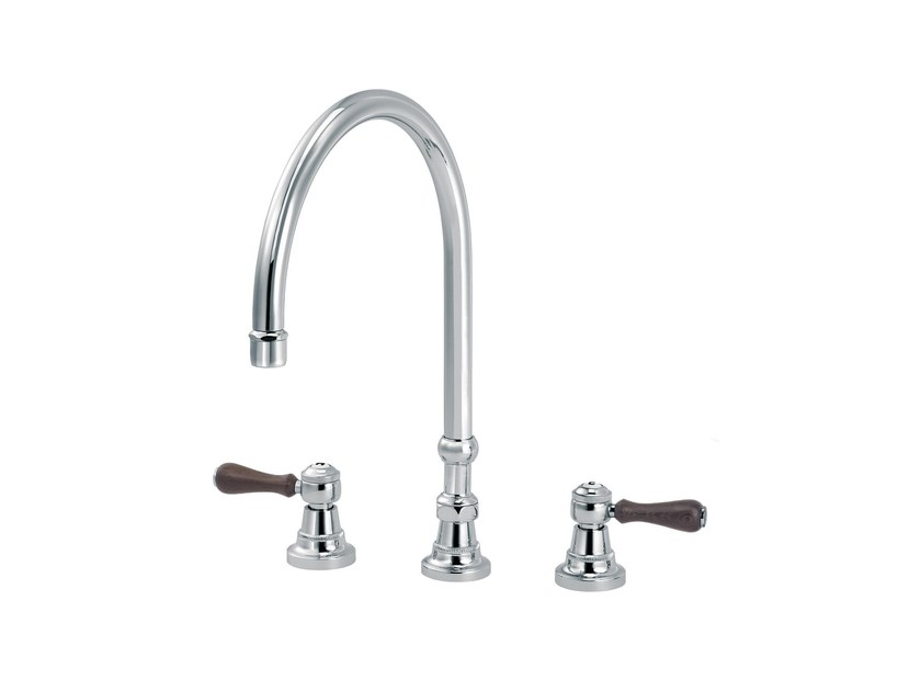 3 hole countertop kitchen mixer tap 1935 WOOD | 3 hole kitchen mixer tap by rvb