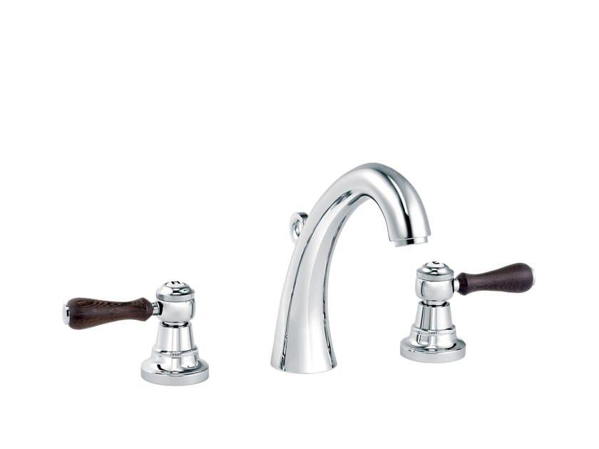 3 hole countertop washbasin mixer 1935 WOOD | Washbasin mixer by rvb