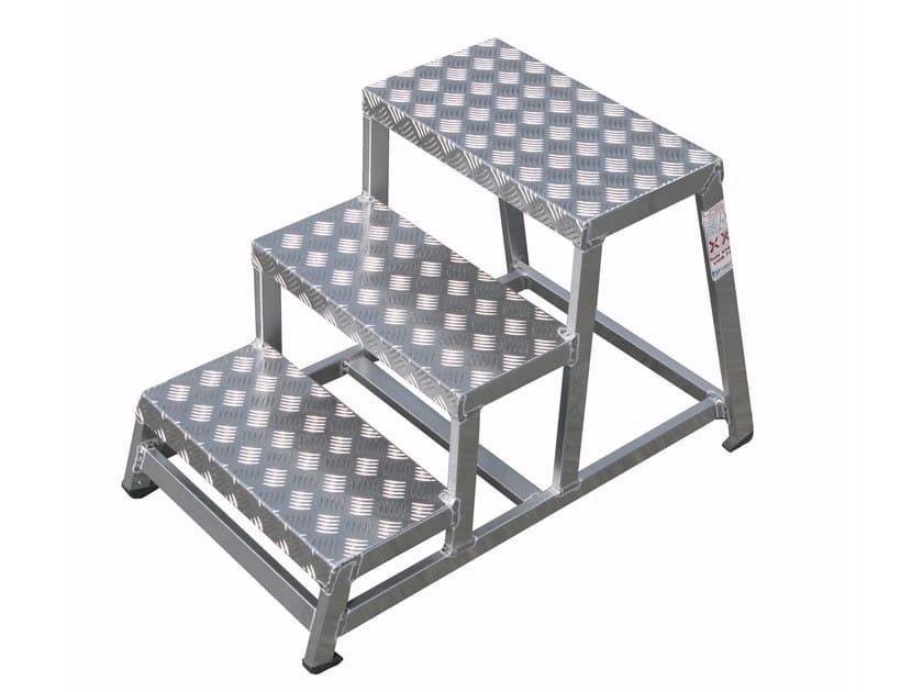 Aluminium heavy duty ladder 1963 by Frigerio Carpenterie