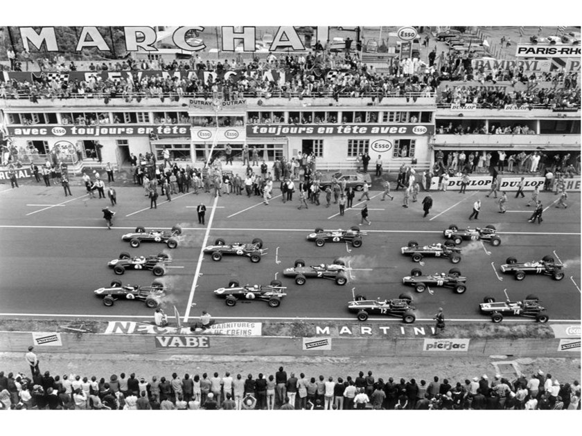 Stampa fotografica INIZIO DEL GRAND PRIX OF FRANCE 1967 by Artphotolimited