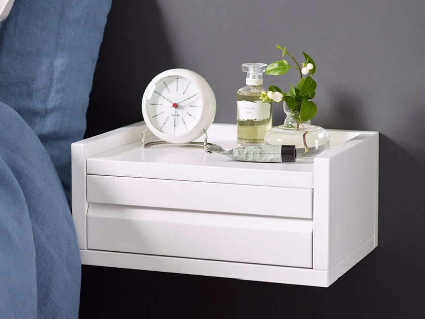 Rectangular wall-mounted bedside table with drawers 1KM DISPLAY | Bedside table with drawers by Karl Andersson