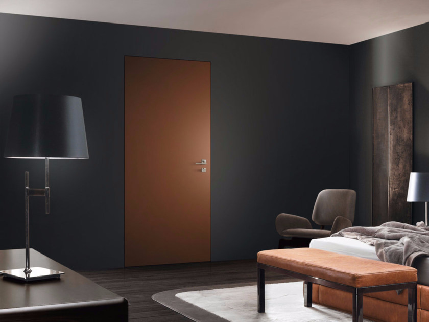 Flush-fitting lacquered safety door MONOLITE RM - 15.2006 MRM6 by Bauxt