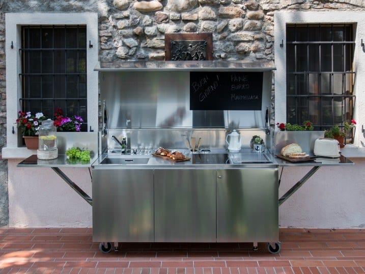 Cucina da esterno elettrica con piano induzione e Tepanyaki FINALMENTE | Cucina da esterno elettrica by Foster