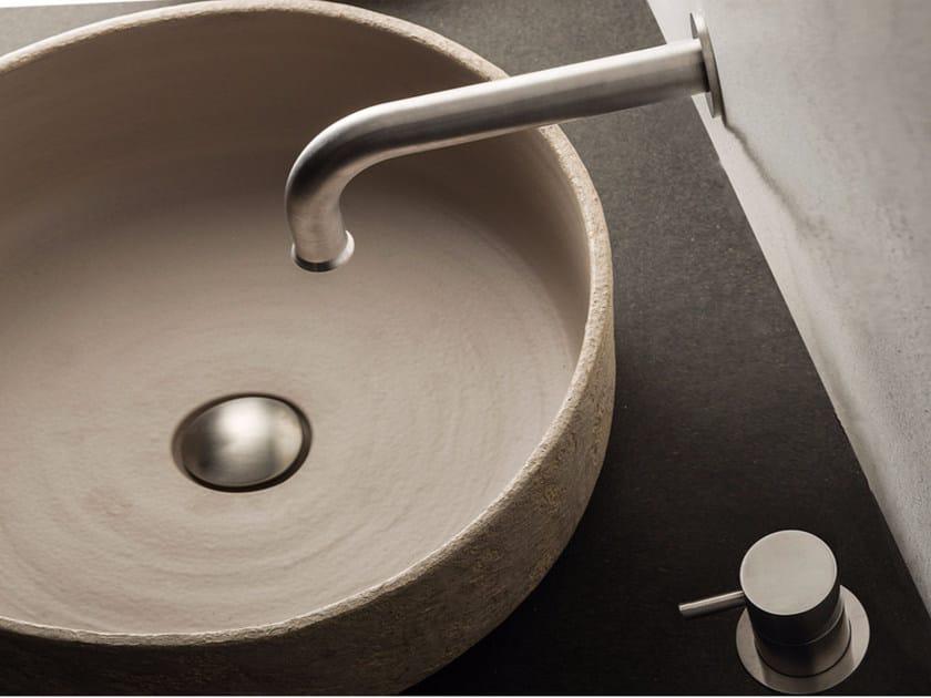 2 hole stainless steel washbasin mixer with aerator STIRIANA | 2 hole washbasin mixer by MINA