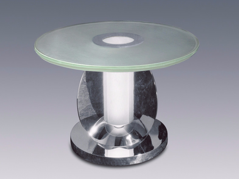 Coffee table with light for living room GUÉRIDON 2 by Jean Perzel