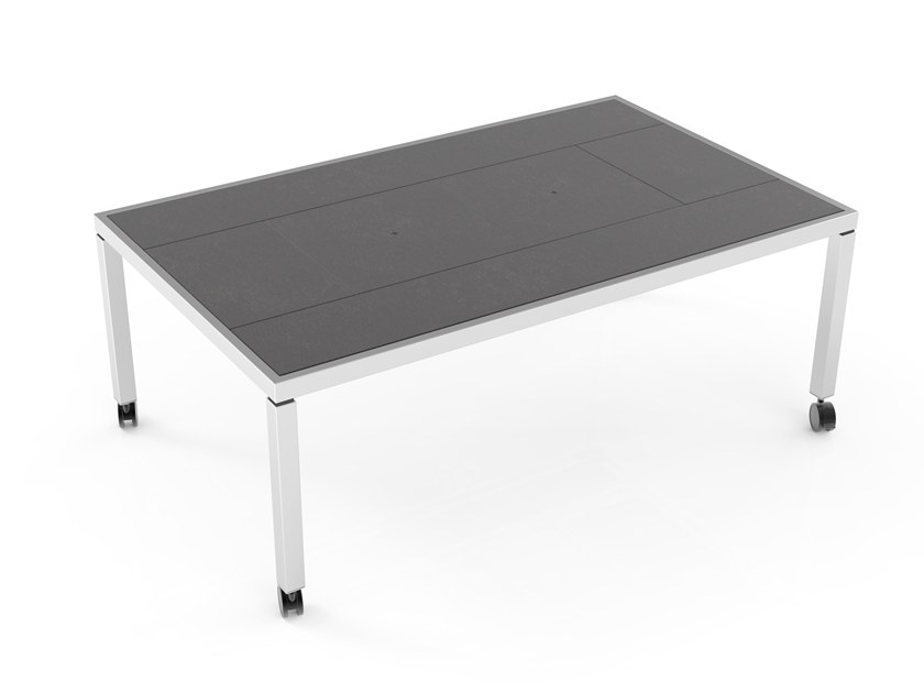 Dining table with warming module Secret Warming Dining table by La tavola