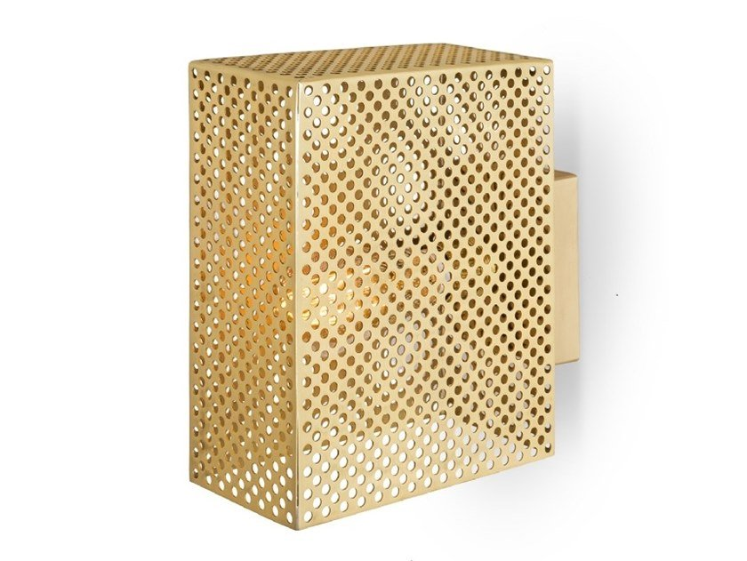 Brass wall lamp GRID | Wall lamp by Moretti Luce