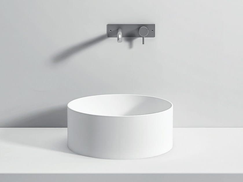 Countertop round Corian® washbasin UNICO | Countertop washbasin by Rexa Design