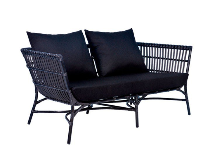 2 seater synthetic fibre garden sofa YOKO | 2 seater garden sofa by cbdesign