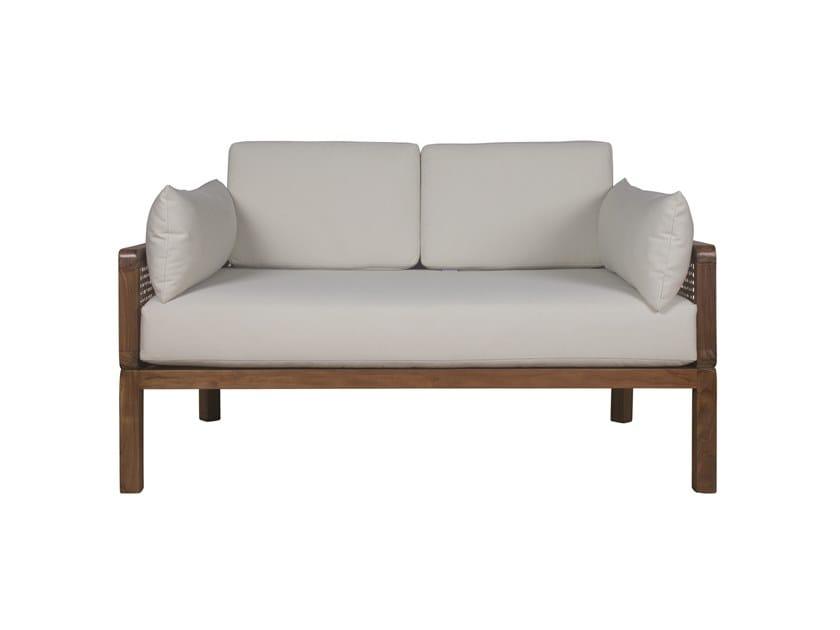 2 seater fabric garden sofa DUAL | 2 seater garden sofa by Il Giardino di Legno