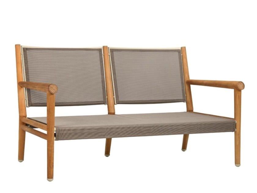 2 seater teak garden sofa KONOS   2 seater garden sofa by JANUS et Cie
