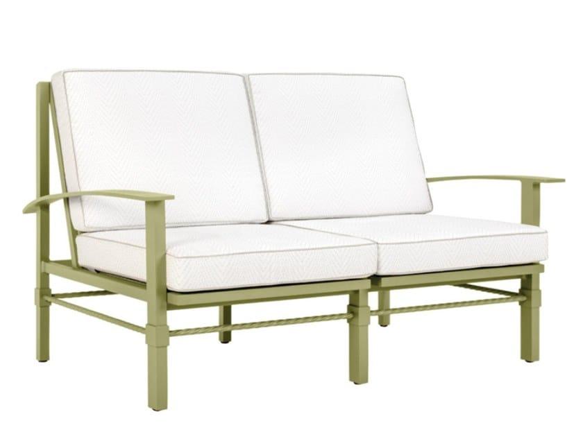 2 seater aluminium garden sofa PALMIA | 2 seater garden sofa by JANUS et Cie