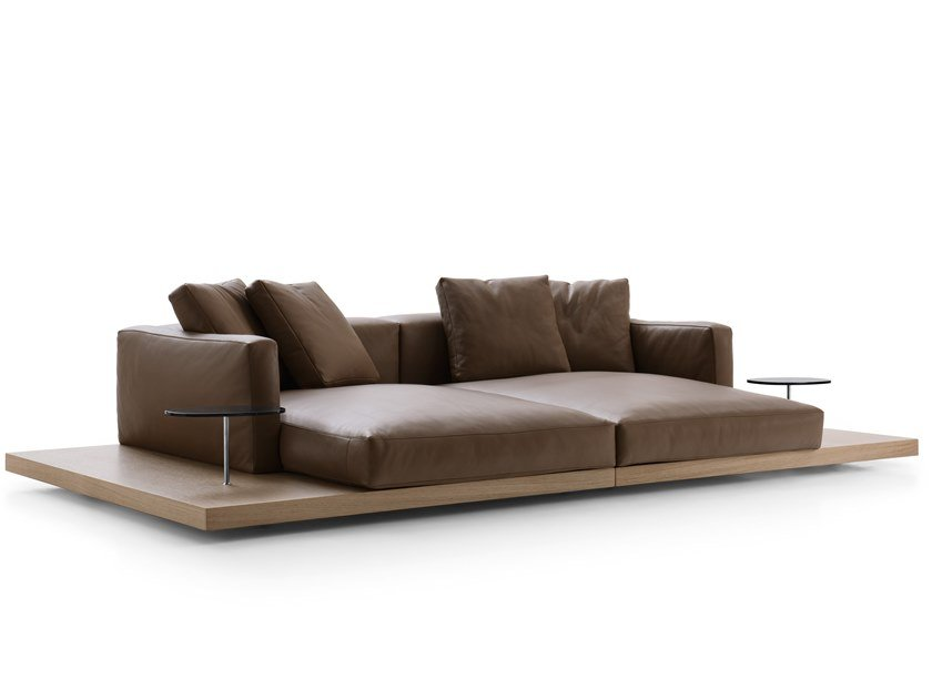 Leather sofa DOCK | Sofa by B&B Italia