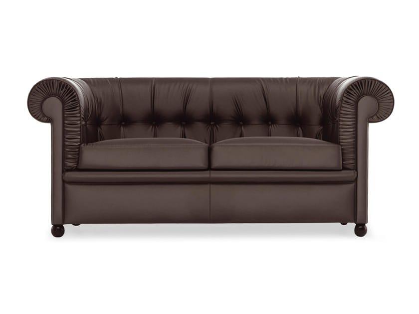Tufted 2 Seater Leather Sofa Bristol By Baleri Italia