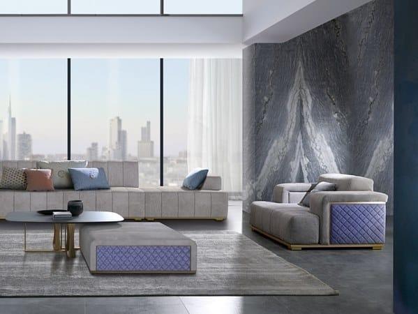 2 seater fabric sofa CUBE | 2 seater sofa by Carpanelli