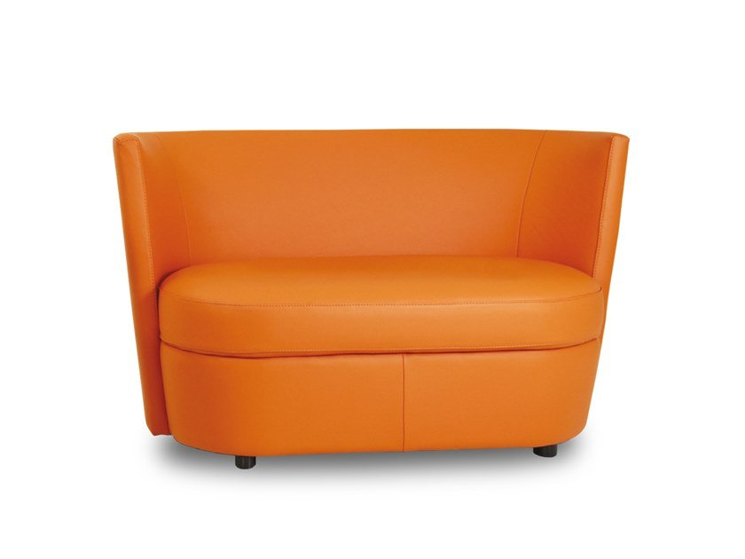 2 seater leather sofa DISCO | 2 seater sofa by Neology