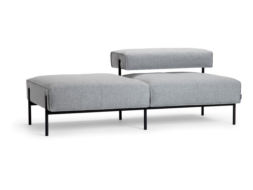 Sectional 2 seater fabric sofa