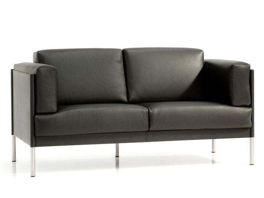 2 seater leather sofa QUADRA | 2 seater sofa by Polflex
