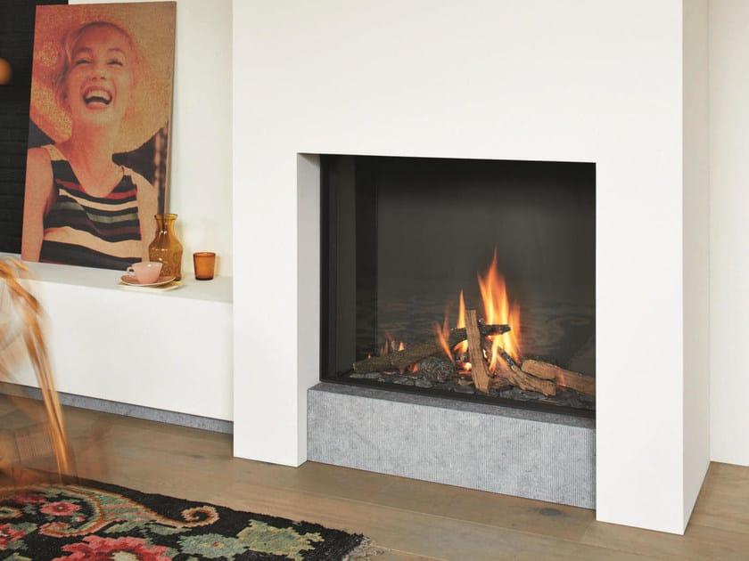 Gas steel fireplace with panoramic glass STÛV B-80 by Stûv
