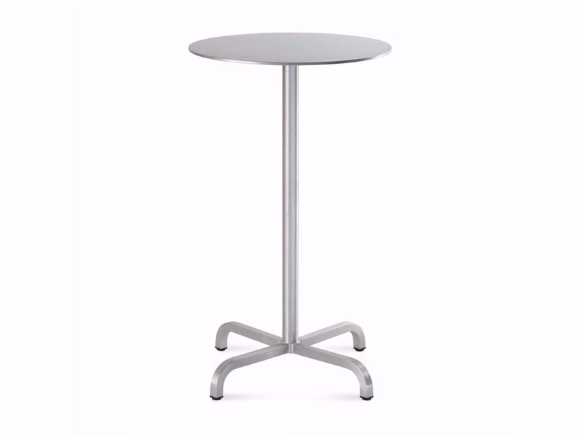 Round aluminium high table 20-06™ | Round table by Emeco