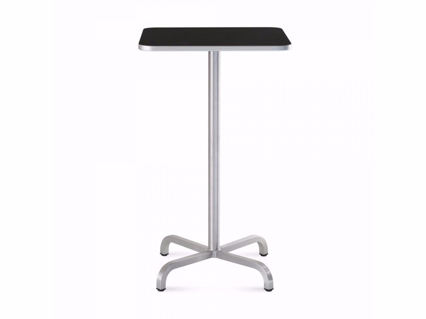 Square aluminium high table 20-06™ | Square table by Emeco