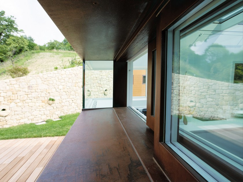 Corten™ patio door 20/10® | Corten™ window by PALLADIO