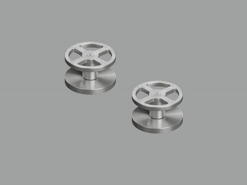 Deck mounted set of 2 shut-off mixing valves 20 51V by Quadrodesign
