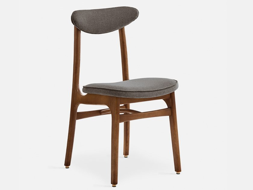 Chair with open back in wood and fabric 200-190 TWEED by 366 Concept s.c.